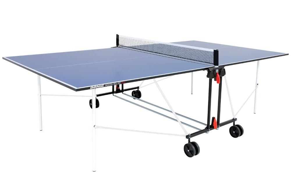 Любительские теннисные столы для внутренних помещений Donic Теннисный стол для помещений Indoor Roller Sun Blue (синий), 230222-B / 940240-B