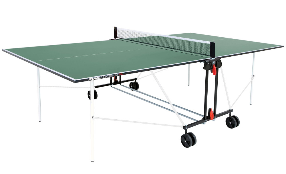 Любительские теннисные столы для внутренних помещений Donic Теннисный стол для помещений Indoor Roller Sun Green (зелёный), 230222-G / 940240-G