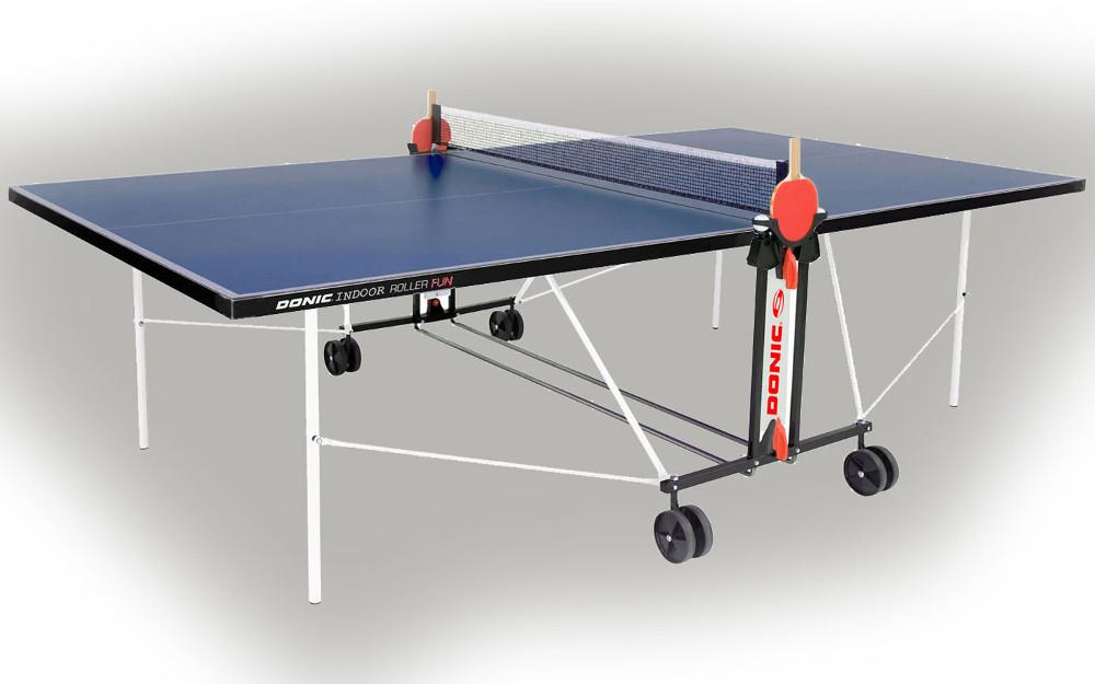 Всепогодные и влагостойкие теннисные столы Donic Теннисный стол всепогодный Outdoor Roller Fun Blue (синий), 230234-B