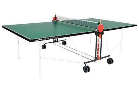 Всепогодные и влагостойкие теннисные столы Donic Теннисный стол всепогодный Outdoor Roller Fun Green (зелёный), 230234-G