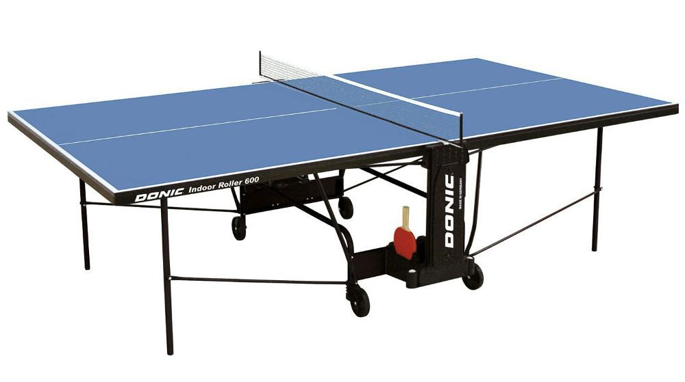 Любительские теннисные столы для внутренних помещений Donic Теннисный стол для помещений Indoor Roller 600 Blue (синий), 230286-B