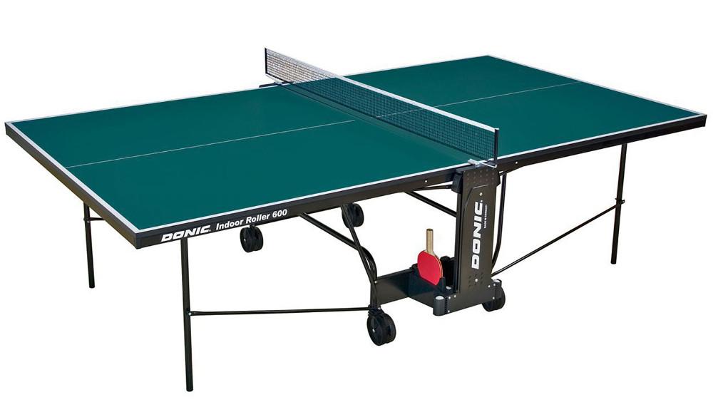 Любительские теннисные столы для внутренних помещений Donic Теннисный стол для помещений Indoor Roller 600 Green (зелёный), 230286-G