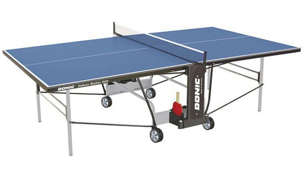 Любительские теннисные столы для внутренних помещений Donic Теннисный стол для помещений Indoor Roller 800 Blue (синий), 230288-B