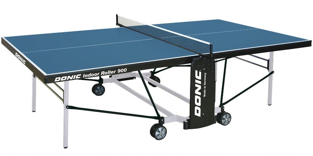 Любительские теннисные столы для внутренних помещений Donic Теннисный стол для помещений Indoor Roller 900 Blue (синий), 230289-B