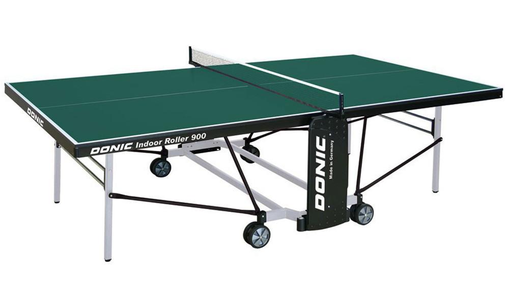 Любительские теннисные столы для внутренних помещений Donic Теннисный стол для помещений Indoor Roller 900 Green (зелёный), 230289-G