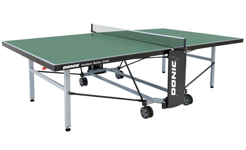 Всепогодные и влагостойкие теннисные столы Donic Теннисный стол всепогодный Outdoor Roller 1000 Green (зелёный), 230291-G
