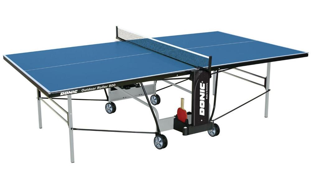 Всепогодные и влагостойкие теннисные столы Donic Теннисный стол всепогодный Outdoor Roller 800 Blue (синий), 230296-B