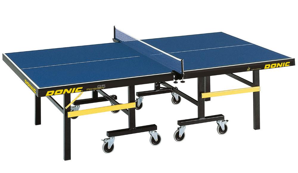 Профессиональные и тренировочные теннисные столы Donic Теннисный стол профессиональный Persson 25 Blue (синий), 400220-B