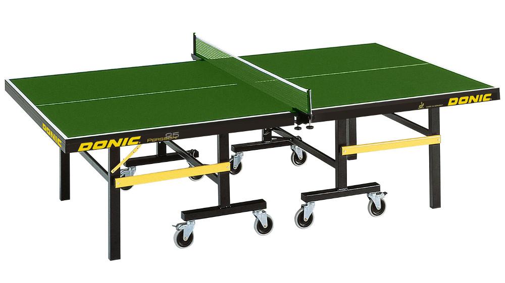 Профессиональные и тренировочные теннисные столы Donic Теннисный стол профессиональный Persson 25 Green (зелёный), 400220-G