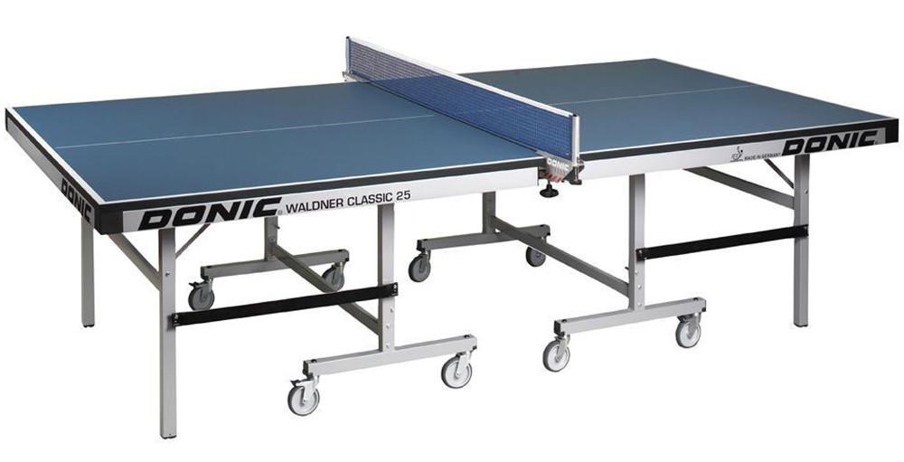 Профессиональные и тренировочные теннисные столы Donic Теннисный стол профессиональный Waldner Classic 25 Blue (синий), 400221-B