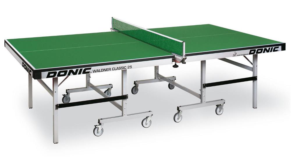 Профессиональные и тренировочные теннисные столы Donic Теннисный стол профессиональный Waldner Classic 25 Green (зелёный), 400221-G