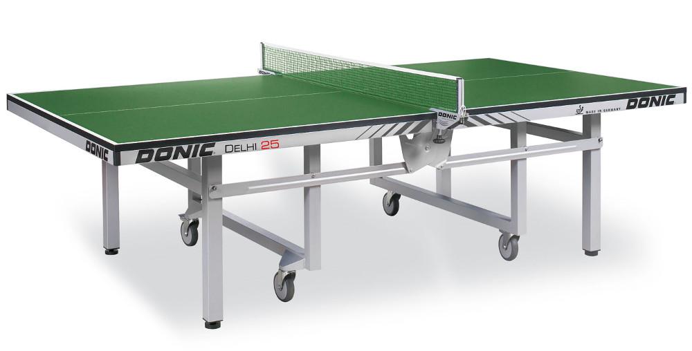 Профессиональные и тренировочные теннисные столы Donic Теннисный стол профессиональный Delhi 25 Green (зелёный), 400241-G