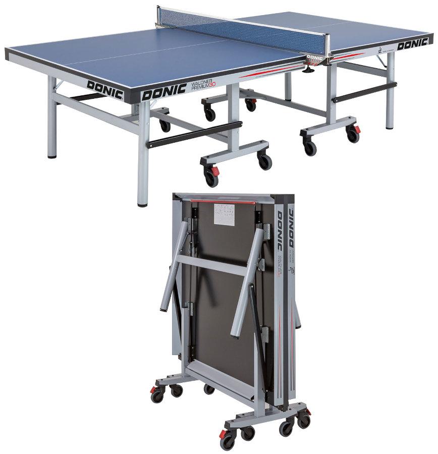 Профессиональные и тренировочные теннисные столы Donic Теннисный стол профессиональный Waldner Premium 30 Blue (синий), 400246-B