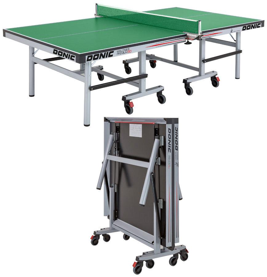 Профессиональные и тренировочные теннисные столы Donic Теннисный стол профессиональный Waldner Premium 30 Green (зелёный), 400246-G