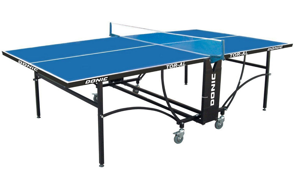 Всепогодные и влагостойкие теннисные столы Donic Теннисный стол всепогодный Tornado-AL-Outdoor (синий), TOR-AL