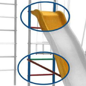 Навесное оборудование и дополнения для спортивных комплексов Вертикаль (ГранВиС) Крепление горки для дачных спортивных комплексов
