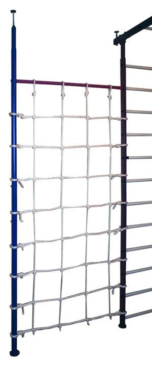 Навесное оборудование и дополнения для спортивных комплексов Вертикаль (ГранВиС) Дополнительная стойка с сеткой для ДСК