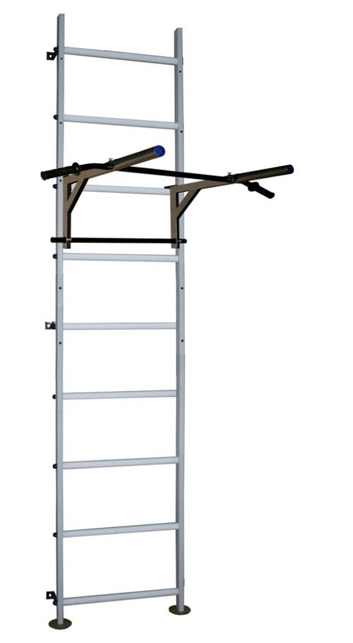 Шведские стенки (крепление к стене) Вертикаль (ГранВиС) Вертикаль-12.1 + ТБ, шведская стенка (с креплением к стене) расширенная с навесным регулируемым турником-брусьями