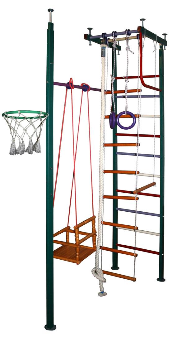 Г-образные комплексы (крепление враспор) Вертикаль (ГранВиС) ДСК Вертикаль-10.1, Г-образный, широкие перекладины (высота потолка от 2,5 до 2,95 метров)
