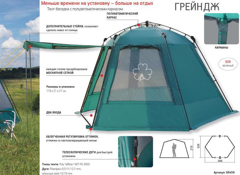 Шатры, беседки и прочие палатки Greenell 95459, Тент-шатёр