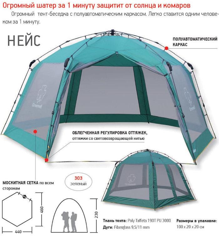 Шатры, беседки и прочие палатки Greenell 95285, Тент-шатёр
