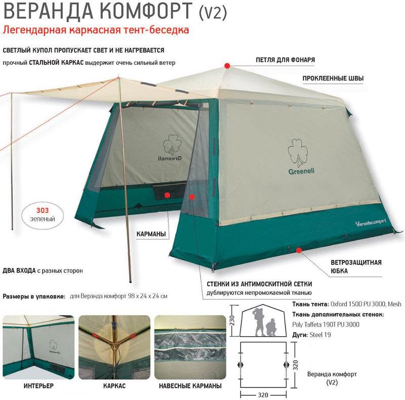 Шатры, беседки и прочие палатки Greenell 25613, Тент-беседка