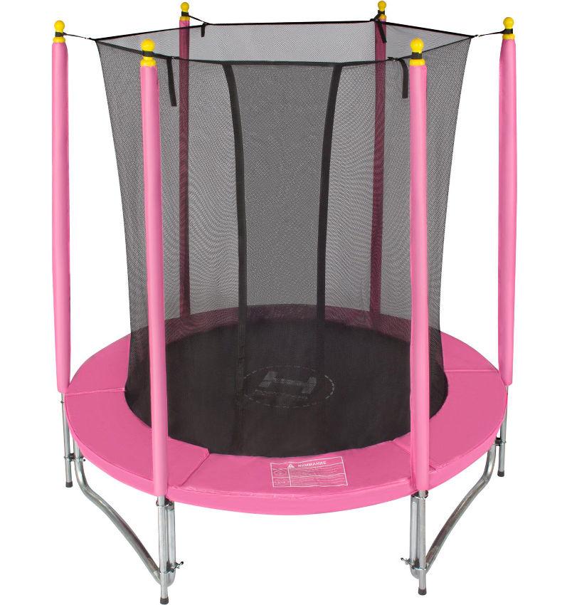 Батуты с защитной сеткой, диаметром до 10 футов (305 см) Hasttings Батут Classic Pink 1,82 метра (6 футов), розовый