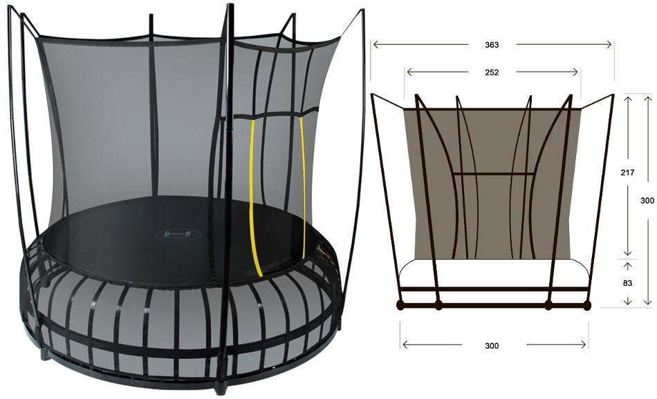 Батуты с защитной сеткой, диаметром от 3-х до 4-х метров Hasttings Батут Space