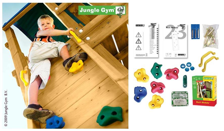 Деревянные спортивные комплексы и детские городки для установки на улице Jungle Gym 450_200, Rock Module (скала)