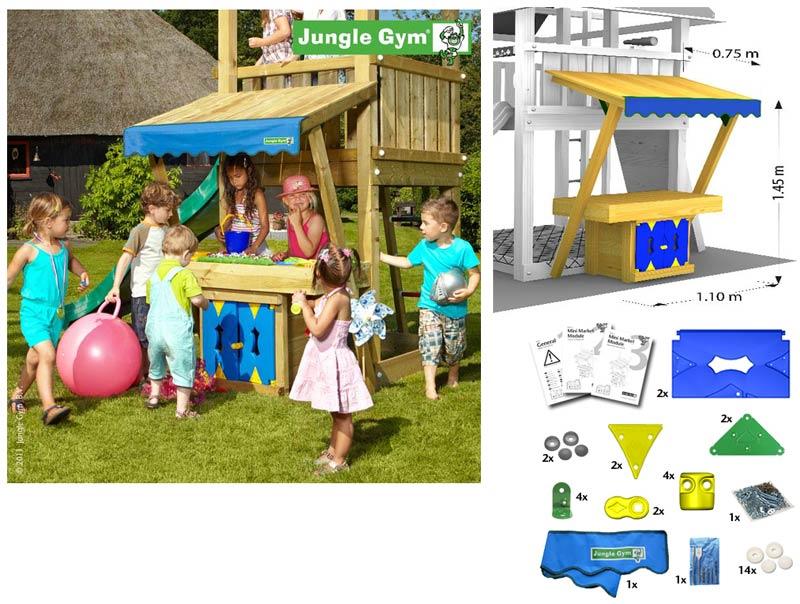 Деревянные спортивные комплексы и детские городки для установки на улице Jungle Gym 450_250, Mini Market Module (магазин)