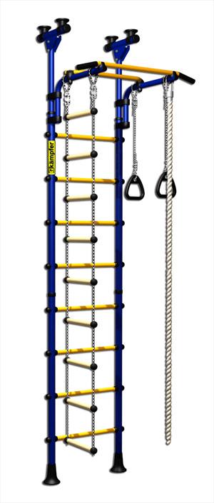 Г-образные комплексы (крепление враспор) Kampfer Домашний спортивный комплекс Strong kid (сeiling), высота потолка от 2,3 до 2,73 м