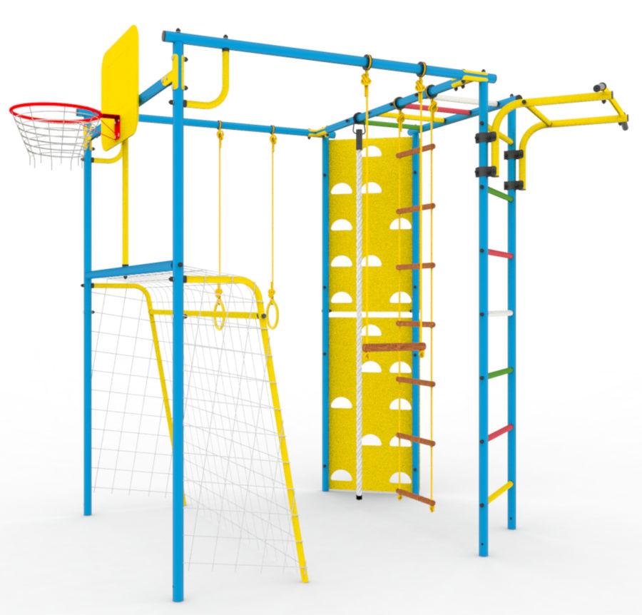 Металлические спортивно-игровые комплексы для установки на улице КМС Дачный спортивный комплекс