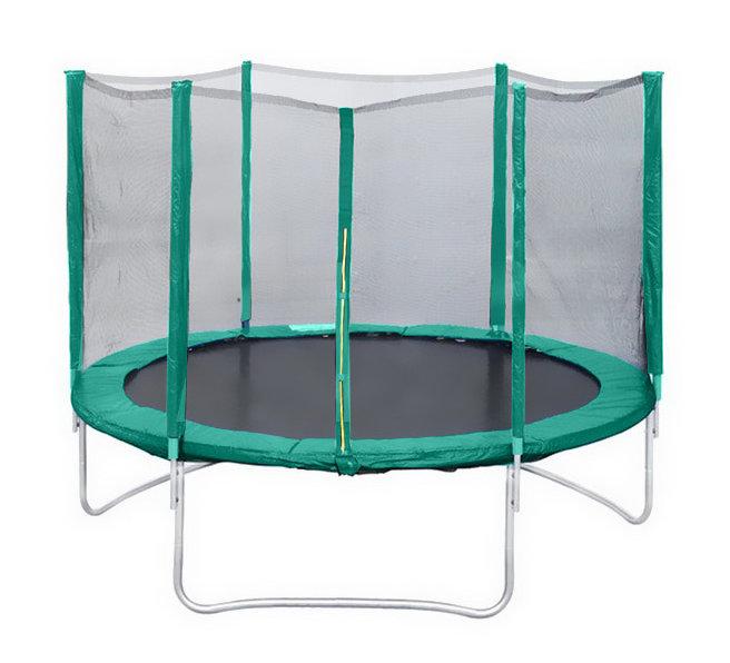 Батуты с защитной сеткой, диаметром до 3-х метров КМС Батут Trampoline 6 футов (диаметр 1,8 метра) с защитной сеткой