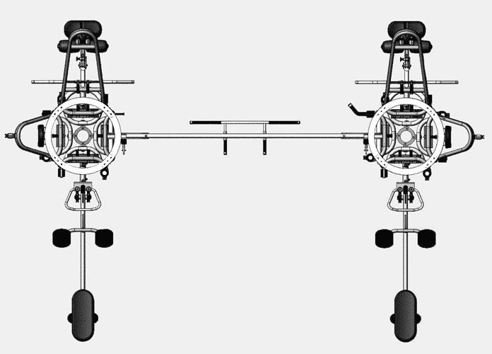 Многофункциональные силовые станции с весовым стеком Matrix G3 MS80, Профессиональная 8-позиционная мультистанция