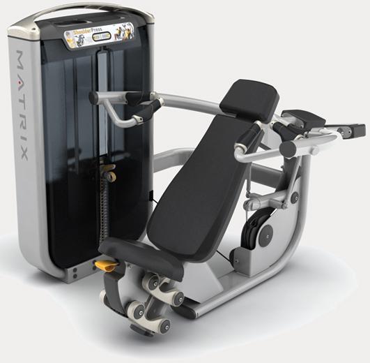 Тренажёры для мышц плечевого пояса Matrix G7 S23, Независимый жим от плеч