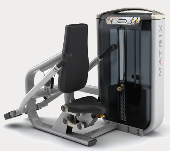 Тренажёры для мышц рук Matrix G7 S42, Отжимание сидя