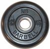 MB Barbell Диск для штанги черный обрезиненный, 1.25 кг (26 мм), серия Стандарт