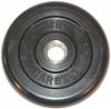 MB Barbell Диск для штанги черный обрезиненный, 2.5 кг (26 мм), серия Стандарт