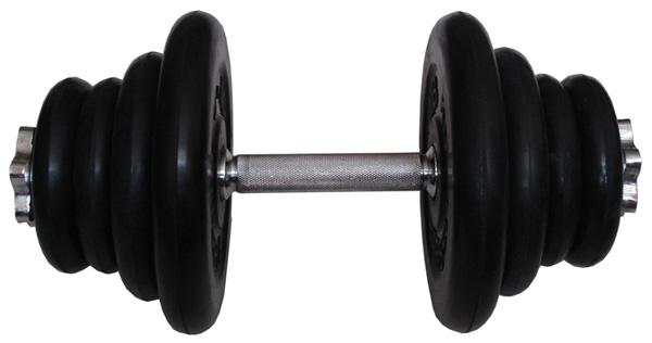 Гантели разборные MB Barbell Гантель разборная обрезиненная 21.5 кг (диски серии