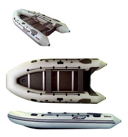 Лодки под мотор больших размеров Мнев и К Надувная моторно-гребная лодка Кайман N-400 (слань+киль)