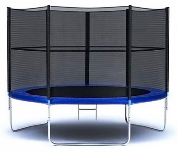 Батуты с защитной сеткой, диаметром до 10 футов (305 см) Moove&Fun Батут с защитной сеткой и лестницей 8 футов (244 см), MFT-8FT-3