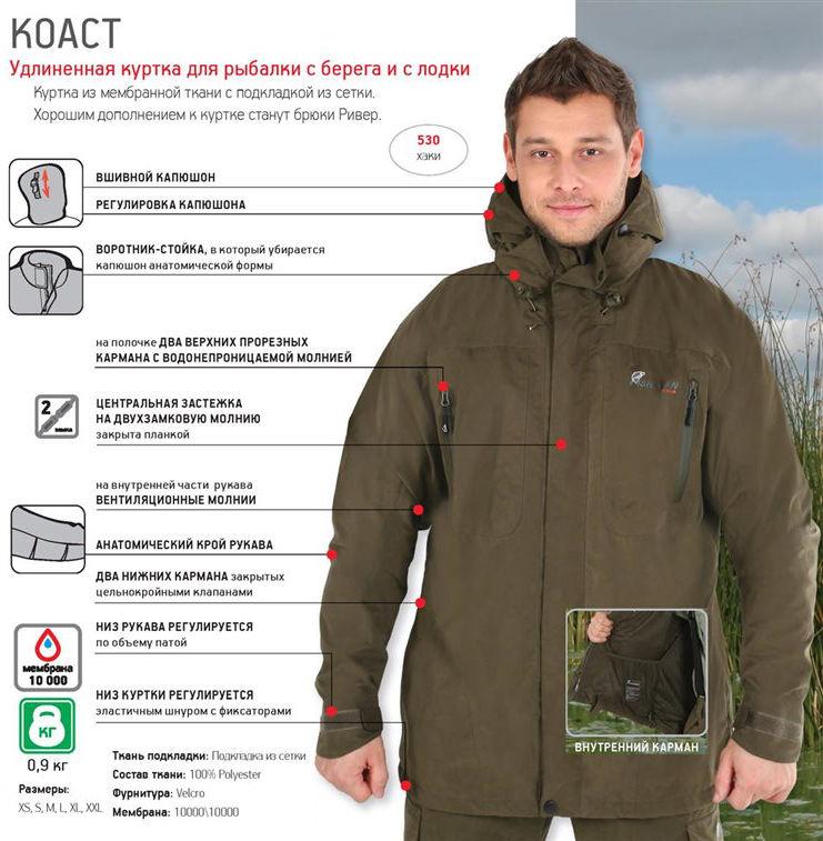 Куртки, жилеты, рубашки для туризма, охоты и рыбалки Нова Тур (Nova Tour) 46033, Куртка рыболовная