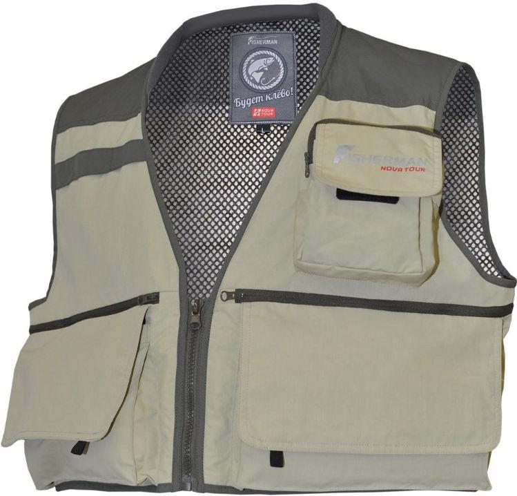 Куртки, жилеты, рубашки для туризма, охоты и рыбалки Нова Тур (Nova Tour) 95734, Жилет рыболовный