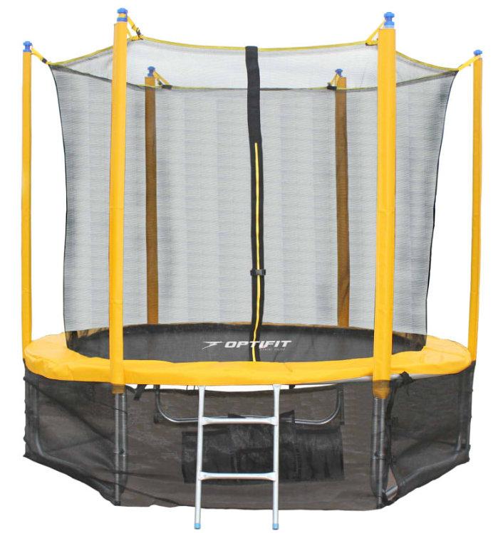 Батуты с защитной сеткой, диаметром от 3-х до 4-х метров OptiFit Батут Sun Like 10 футов (3,05 метра), жёлтый