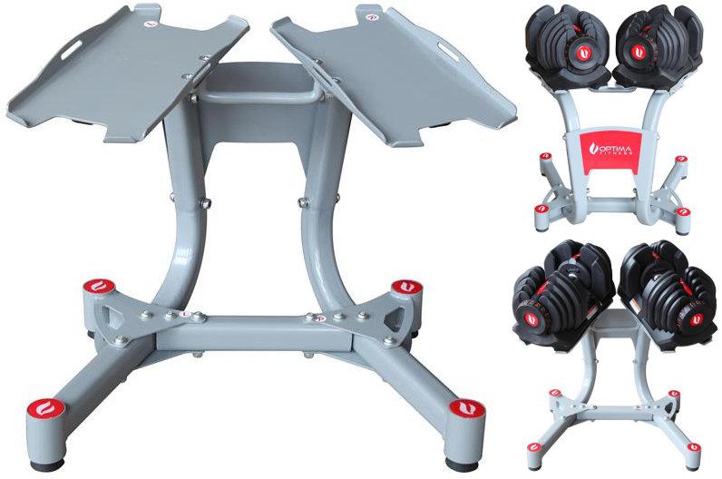Гантели разборные Optima Fitness Стенд для регулируемых гантелей