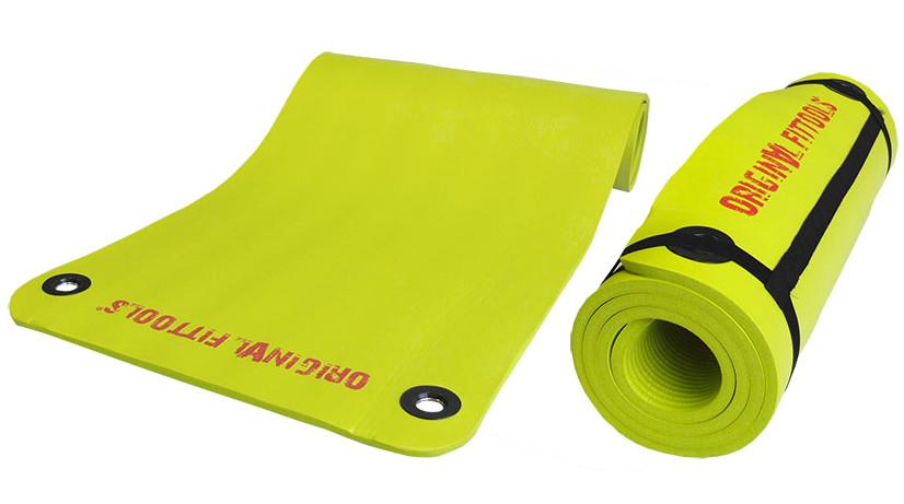 Коврики и маты Original Fit.Tools Коврик для аэробики и йоги 1800х610х12.5 мм NBR зелёный, FT-YGM-125NBR-GREEN