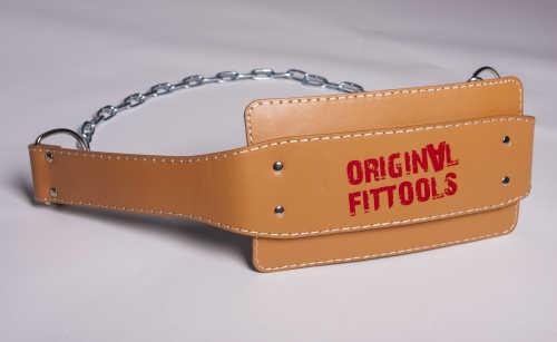 Аксессуары для тяжёлой атлетики Original Fit.Tools FT-L-DPBLT, Ремень для подвешивания отягощений к поясу кожаный (винилискожа)