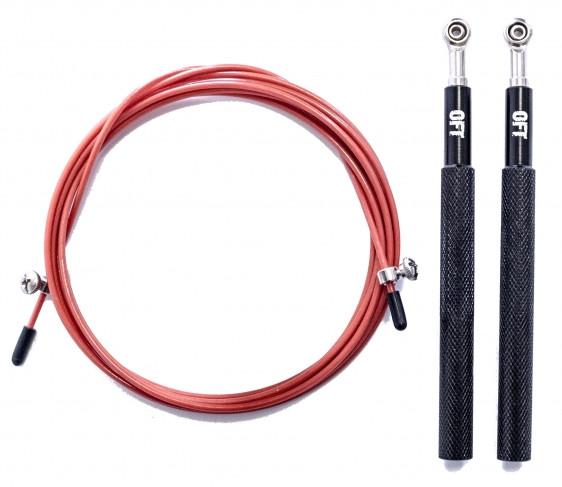 Скакалки Original Fit.Tools Скакалка скоростная профессиональная с регулируемыми ручками, FT-FIRE-ROPE