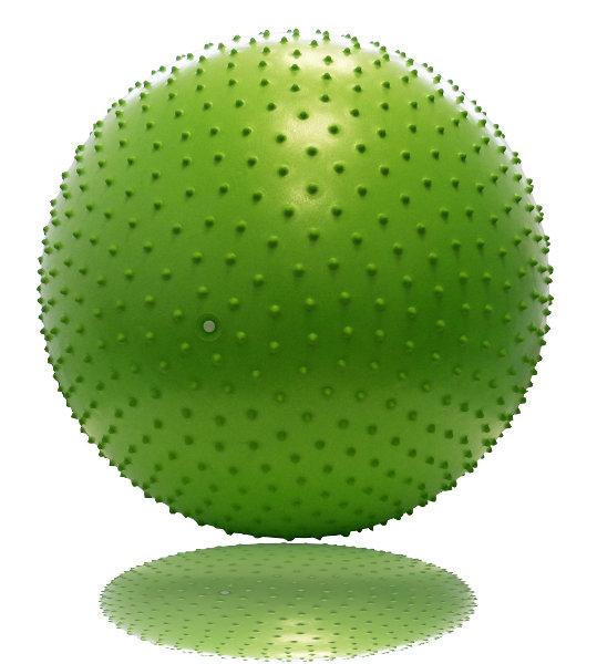 Гимнастические мячи Original Fit.Tools Гимнастический мяч с массажным эффектом 65 см, FT-MBR-65