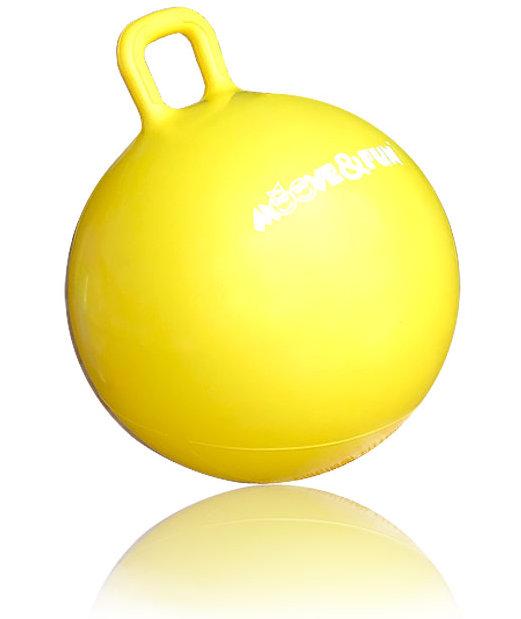Гимнастические мячи Original Fit.Tools Мяч-попрыгун детский с квадратной ручкой, диаметр 45 см, MF-HPB-45-02